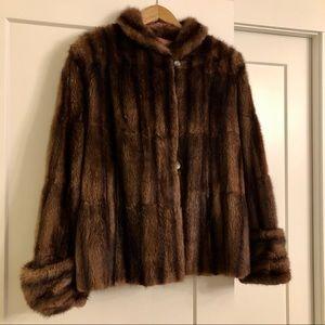 Vintage Beaver Fur coat. Cropped